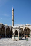Courtyard of  Sultan Ahmet Camii Royalty Free Stock Images