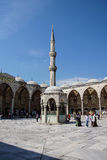Courtyard of  Sultan Ahmet Camii Stock Image