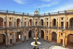 Courtyard surrounded by galleries Royalty Free Stock Photography