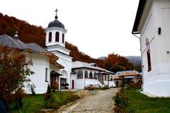 Courtyard of Suzana monastery Royalty Free Stock Photos