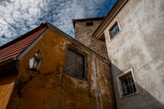 Courtyard Tallinn Old Town. Ramshackle houses in a courtyard Tallinn Old Town, Estonia royalty free stock photo