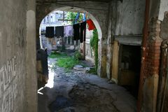 Courtyard in Tbilisi Stock Images