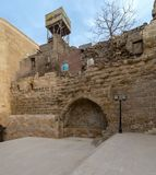 Courtyard of Tekkeyet Al-Bustami, Cairo, Egypt royalty free stock photos