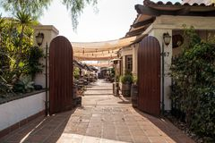 Courtyard of the Tequila Factory Restaurant and Cantina in Old T Royalty Free Stock Images