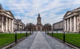 Courtyard Trinity College at Sunrise Stock Photos