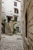 Courtyard, Trogir. Courtyard with stairs in Trogir, Croatia Stock Images