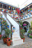 Courtyard of a typical house in Cordoba Royalty Free Stock Photos