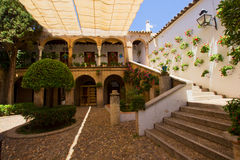 Courtyard of a typical house in Cordoba Royalty Free Stock Image