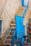 The courtyard of a typical house in Sidi Bou Said,Tunisia Royalty Free Stock Photography
