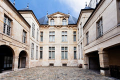 Courtyard of typical old house in Paris Stock Images
