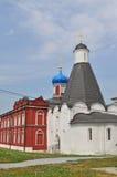 The courtyard of Uspensky Brusensky Convent in Kolomna city Stock Image