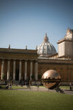 Courtyard of the Vatican Museum Stock Photos