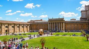 The courtyard of Vatican Museum Stock Image