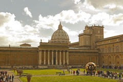 Courtyard of Vatican Museum Stock Photos