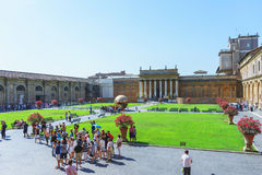 Courtyard of the Vatican Museum. Royalty Free Stock Images