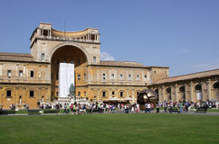 Courtyard of the Vatican Museums Royalty Free Stock Photo