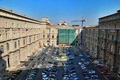 The courtyard of the Vatican, parking Royalty Free Stock Images