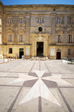 Courtyard vilhena palace maltese cross mdina malta. Tile stone maltese cross entry to vilhena palace mdina malta national museum of natural history Royalty Free Stock Photos