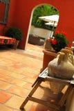 Courtyard of a villa Stock Photos