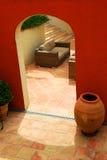Courtyard of a villa stock photography