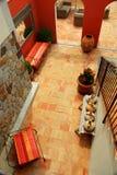 Courtyard of a villa Royalty Free Stock Image