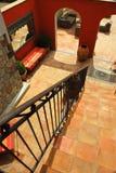 Courtyard of a villa Stock Image