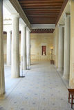 Courtyard at the Villa Kerylos, located on Pointe des Fourmis, in Beaulieu-Sur-Mer, France Royalty Free Stock Images
