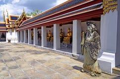 Courtyard at the Wat Pho. In Bangkok, Thailand stock photography