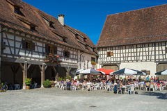 The courtyard of the water castle Glatt Royalty Free Stock Photography