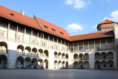 Courtyard of Wawel Castle, Krakow, Poland Stock Images