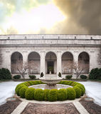 Courtyard in winter Royalty Free Stock Photography