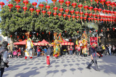 Courtyard of xiacheng chenghuang temple Royalty Free Stock Images