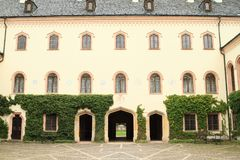 Courtyard of Castle Sychrov stock image