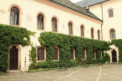 Courtyard of Castle Sychrov stock images