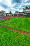The courtyard of Zwinger Stock Images