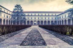 Seminario di Seveso San Pietro. Courtyyard view of the Seminary of San Pietro, Seveso , Milan, Italy Royalty Free Stock Photos