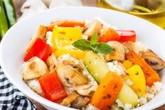 Cous Cous με τα veggies στοκ φωτογραφίες