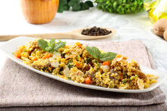 Cous Cous com vegetais Fotos de Stock Royalty Free