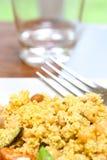 cous cous con insalata greca Fotografie Stock Libere da Diritti