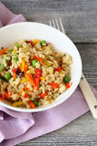 Cous cous with fresh vegetables Royalty Free Stock Photos