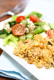 Cous cous with greek salad Royalty Free Stock Photos