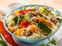 Cous cous with meat Royalty Free Stock Images