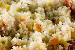 Cous cous with tomatoes, beans and corn Royalty Free Stock Image