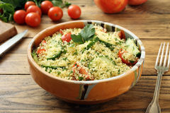 Cous Cous Vegetarian Salad Royalty Free Stock Photo