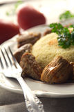 Couscous avec de la viande Images stock