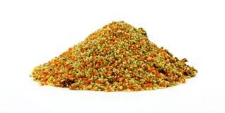 Couscous avec les parties végétales déshydratées Image stock