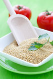 Couscous in bowl Royalty Free Stock Images