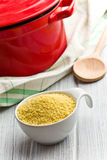 Couscous in bowl Royalty Free Stock Photography