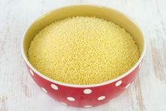 Couscous in bowl Royalty Free Stock Photos