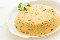 Couscous cake Royalty Free Stock Image